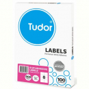 Tudor multi purpose labels 8 per sheet 105 x 74mm box 100 sheets