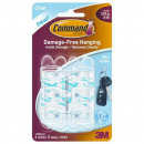 Command adhesive mini clear hooks with clear strips