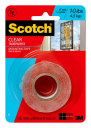 3M scotch super strength clear mounting tape 25.4mm x 1.51m