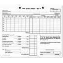 Zions no.44 employee time sheets 175 x 215mm pack 100