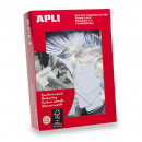 Apli 387 strung tickets 13x20mm white pack 100