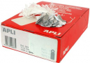 Apli 390 strung tickets 22x35mm white pack 100