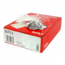 Apli 391 strung tickets 28x43mm white pack 100