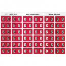 Avery 43302 label side tab 'B' colour code 25 x 38mm magenta pack 180