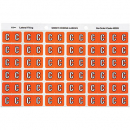 Avery 43303 label side tab 'C' colour code 25 x 38mm orange pack 180
