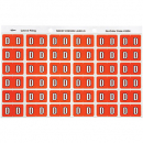 Avery 43304 label side tab 'D' colour code 25 x 38mm dark orange pack 180
