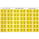 Avery 43305 label side tab 'E' colour code 25 x 38mm yellow pack 180