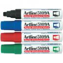 Artline 5109a whiteboard marker 10mm chisel assorted box 6