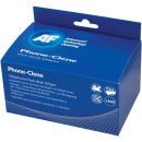 AF telephone cleaning wipes individually wrapped box 100