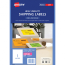 Avery 35998 L7167 laser labels 1up fluorescent pink pack 25