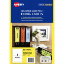 Avery 959084 L7171 laser label lever arch assorted colours pack 25