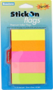 Stick on index flags 25 x 76mm neon flags pack 5