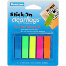Beautone clearflag 12 x 45mm assorted 125 flags
