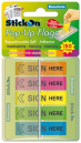 Stick on pop up flag sign here 45 x 12mm assorted
