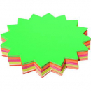 Starburst fluro stars 150mm diameter pack 60