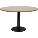 Rapidline round table black disc base 1200mm beech