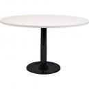 Rapidline round table black disc base 1200mm white