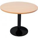 RAPIDLINE ROUND TABLE BLACK DISC BASE 900MM BEECH