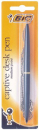 Bic captive desk pen ballpoint refillable medium 1.0mm 58cm chain length blue