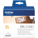 Brother dk-11241 large white shipping labels 102mmx 152mm roll 200