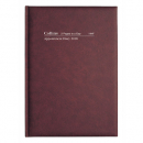 Collins appointment hardcover diary A4 2 pages to day 15 minute burgundy