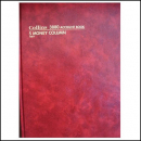 Collins 3880 series account book A4 84 leaf 5 money column red