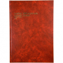 Collins 3880 series account book A4 84 leaf treble cash paged red