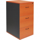 RAPID WORKER FILING CABINET 3 DRAWERS LOCKABLE 465 X 600 X 998MM CHERRY/IRONSTONE