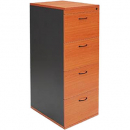 Rapid worker filing cabinet 4 drawers lockable 465 x 600 x 1300mm cherry/ironstone