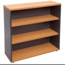 RAPID WORKER BOOKCASE 3 SHELF 900 X 315 X 1200MM BEECH/IRONSTONE