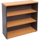 RAPID WORKER BOOKCASE 2 SHELF 900 X 300 X 900MM BEECH/IRONSTONE
