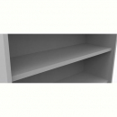 Rapid vibe bookcase shelf 900 x 300 x 25mm grey