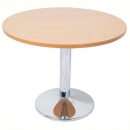 Rapidline round table 1200mm chrome base beech top