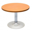 Rapidline round table 600mm chrome base cherry top