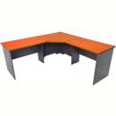 Rapid worker corner desk 1800 x 1800 x 750mm cherry/ironstone
