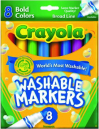 Crayons crayola large washable pk 8