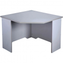 Rapid vibe corner desk 900 x 900 x 600 x 730mm grey