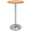 Rapidline chrome base dry bar round table 1075 x 600mm beech