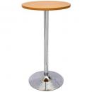 Rapidline chrome base dry bar round table 1075 x 600mm cherry