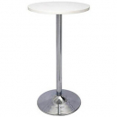 RAPIDLINE CHROME BASE DRY BAR ROUND TABLE 1075 X 600MM WHITE