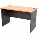 RAPID WORKER DESK OPEN 1500 X 750MM CHERRY/IRONSTONE