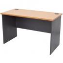 Rapid worker desk open 900 x 600mm beech/ironstone