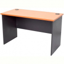RAPID WORKER DESK OPEN 900 X 600MM CHERRY/IRONSTONE
