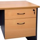 Rapid worker desk pedestal fixed 2 drawers lockable 465 x 447 x 454mm beech/ironstone
