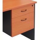 Rapid worker desk pedestal fixed 2 drawers lockable 465 x 447 x 454mm cherry/ironstone
