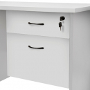 RAPID VIBE DESK PEDESTAL FIXED 2 DRAWERS LOCKABLE 465 X 447 X 454MM GREY