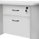 Rapid vibe desk pedestal fixed 2 drawers lockable 465 x 447 x 454mm grey