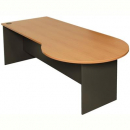 RAPID WORKER DESK CONFERENCE END LEFT HAND 2300 X 900 X 730MM BEECH/IRONSTONE