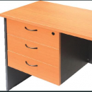 RAPID WORKER DESK PEDESTAL FIXED 3 BOX DRAWERS LOCKABLE 465 X 447 X 454MM BEECH/IRONSTONE