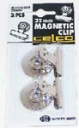 Celco letter clip magnetic 32mm chrome pack 2